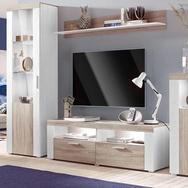 Wohnwand weiß, pflegeleichte Oberfläche, FSC®-zertifiziert, weiß
