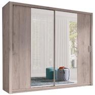 JUSTyou Vista 200 Schwebetürenschrank Kleiderschrank Garderobe Garderobensetnschrank Schlafzimmer Eiche