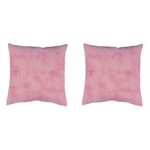 Home Wohnideen Kissenhüllen  »2ER KISSENHÜLLE UNI-STRUKTUR«, 2x 50x50 cm, lila, blickdicht