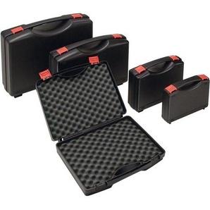 Kunststoffkoffer 235 x 185 x 48 mm mit Schaumstoffeinlage schwarz Transportkoffer leer