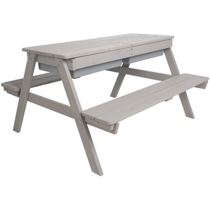 Gartentisch für Kinder, grau, Holz