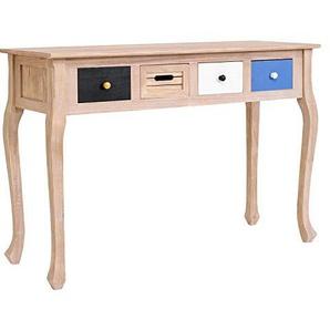 Rebecca Mobili Schreibtisch Konsolentisch Sekretär 4 Schubladen Holz Braun Weiß Schwarz Blau Shabby Vintage Eingang Wohnzimmer (Cod. RE4141)