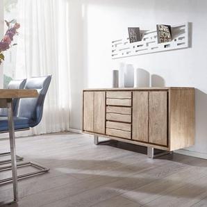 Designer-Sideboard Wyatt 175 cm Sheesham Natur 3 Türen, Sideboards
