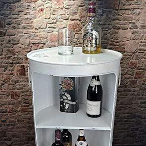 Livitat® Regal Beistelltisch Ölfass Tonne H80 cm Industrie Look Loft Vintage Retro LV5025