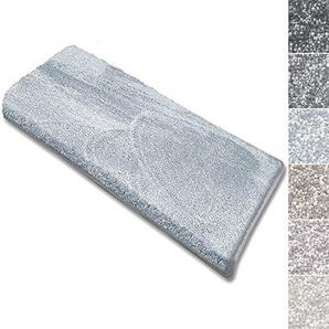 casa pura Stufenmatten Sundae | viele Varianten | Treppenteppich mit kuschlig weichem Flor | kombinierbar mit passenden Läufern | Hellblau - Rechteckig - 15 Stück Set