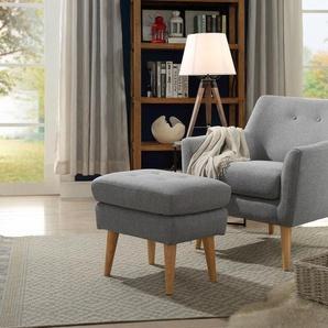 Home Affaire Sessel »Mirko«, silber, B/H/T: 84x48x54cm, hoher Sitzkomfort, FSC®-zertifiziert