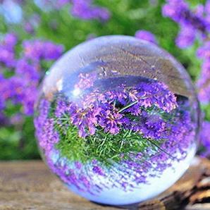 Kitechildhrrd Kristallkugel Fotokugel Glaskugel Fotografie K9 Klare Kristallkugeln Glas Crystal Ball Photography ? für Meditation und Heilung ? für Dekoration ? Fotokugel aus Glas (80mm)