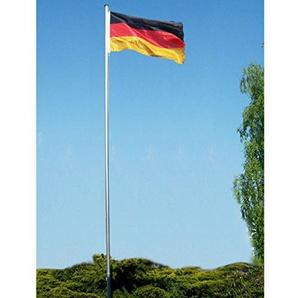 VARILANDO® 6 Meter hoher Fahnenmast aus Aluminium mit Deutschland-Flagge Deutschland-Fahne