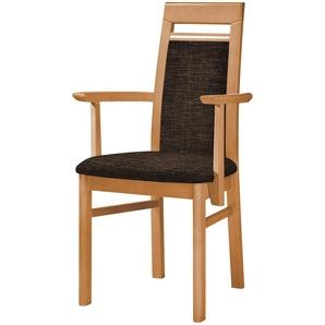 Stuhl  Cristal ¦ braun ¦ Maße (cm): B: 60 H: 99 T: 56 Stühle  Esszimmerstühle  Esszimmerstühle ohne Armlehnen » Höffner
