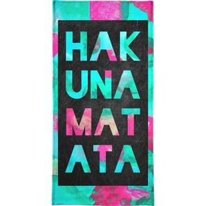Handtuch »Hakuna Matata 2«, Juniqe, Weiche Frottee-Veloursqualität