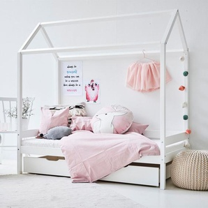 Hausbett Kids Heaven Girl, weiß, 90x200 cm