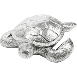 Deko Figur Turtle Schildkröte Antik Silber