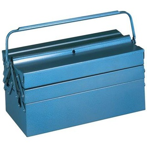 Werkzeugkasten blau 430x200x200mm Tragegriff umlegbar abschließbar