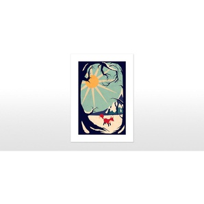 Fox Roaming Around II von Yetiland, 42 x 59cm (A2) Gerahmte Kunstdrucke