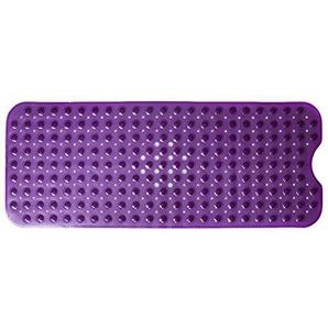 EXQUILEG Badematte,Badewannenmatten Extralange,Anti-Rutsch-Matte Rutschfeste Badewanneneinlage mit Saugnäpfen 100 x 40 cm (Transparent-Violett)