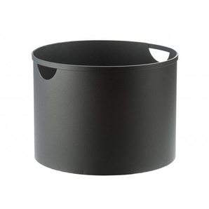 TermaTech Holzkorb Stahl Ø 40 cm, schwarz