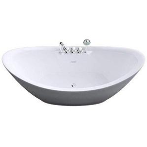 Freistehende Luxus Badewanne Vicenza603 in weiß, BTH: 183x80x80 cm