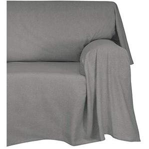 Cotton & Color Tagesdecke/Überwurf aus Baumwolle, 180 x 270 x 1 cm, Orange Modern 180x270x0.5 cm grau