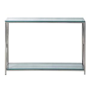 Konsolentisch Stahl und Glas, B 119 cm, verchromt Helsinki Helsinki
