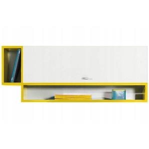 Jugendzimmer - Hängeschrank Geel 34, Weiß / Gelb - Abmessungen: 40 x 100 x 26,5 cm (H x B x T)