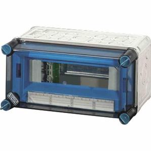 HENSEL MI1109 Kleinverteiler, Aufputz, 1x9TE, Kunststoff, IP65, 300x150x170mm, ET93mm, DIN-Schiene, geschlossen