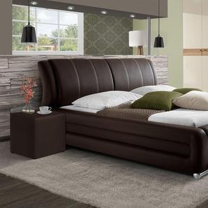 Luxusbett mit Kunstlederbezug Petersfield - 160x200 cm - braun