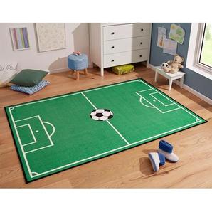 Kinderteppich Fussballfeld