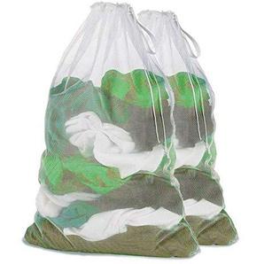 Homclo 2 Stück wäschesack Waschmaschine Wäschenetz Wäschebeutel mit reißverschluss für BH Unterwäsche Schuhe Waschtasche