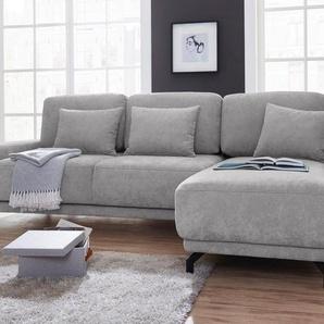 exxpo - sofa fashion Polsterecke mit Bettfunktion, silber, Webvelours