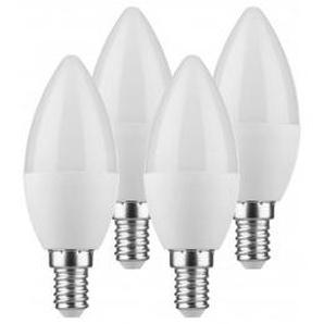 LED-Kerzenlampe 4er-Pack E14 5,5 Watt