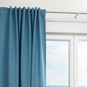 Vorhang von LYSEL® Dea einfarbig in den Maßen Breite: 140cm Höhe: 245cm in Blau/fernblau