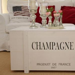 Truhe Frachtkiste Champagne weiss