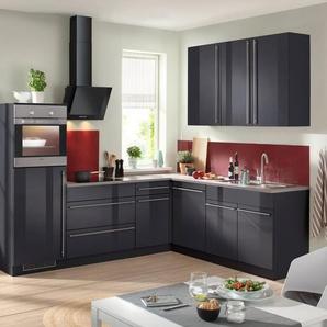 WIHO KÜCHEN Küchenzeile mit E-Geräten »Winkelküche Chicago«, Gesamtbreite 260 x 220 cm