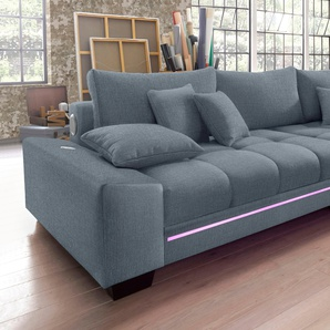 Nova Via Big Sofa, grau, Inkl. loser Zier- und Rückenkissen, FSC®-zertifiziert