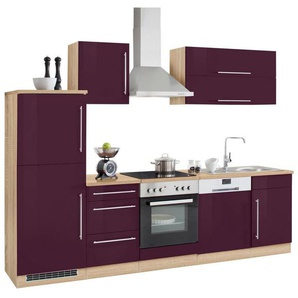 HELD MÖBEL Küchenzeile »Samos« ohne E-Geräte, Breite 280 cm, lila