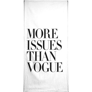 Handtuch More Issues Than Vogue White Juniqe