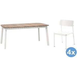 Emu Shine Teak Gartenset 166x100 Tisch + 4 Stühle