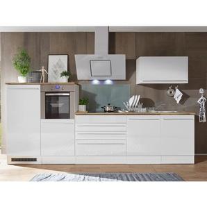 Respekta Premium Küchenzeile 320 cm Weiß Hochglanz