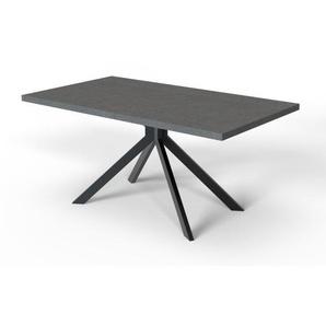 Esstisch LEON 79 x 160 cm Holznachbildung schwarz