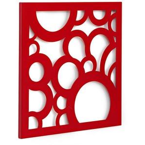 Wandgarderobe und Memoboard in Einem, rot, Gr. 42/42/2 cm,  home