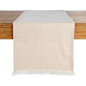 Tischläufer Dobby Fringe, B:40cm x L:150cm, rosa