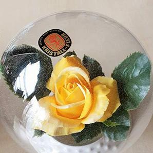 Modern 1 Kugel aus Kristallglas Blumenkugel Blumenvase Kristall Fleur Kristallkugel mit Blume