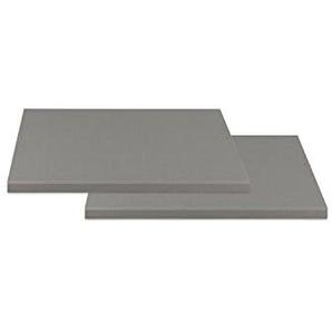 Einlegeboden schmal ZESA 1, Silber,Grau Dekor