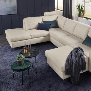 Set One By Musterring Wohnlandschaft »SO 1100«, beige, 5 Jahre Hersteller-Garantie, hoher Sitzkomfort