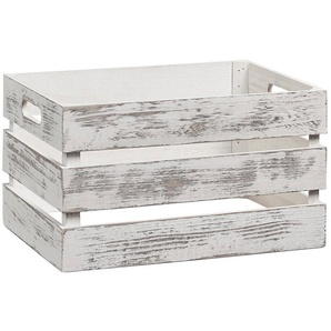 Vintage Holzkiste zur Aufbewahrung, Farbe weiß, Maße 35x25x20 cm
