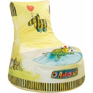 Sitzsack offizielles Lizenzprodukt »Sitzsack LittleSwing JANOSCH«, gelb, Sitting Point