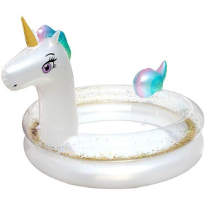 Planschbecken Unicorn, D:120cm x H:92cm, weiß