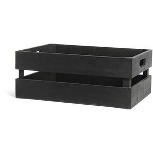 Dekokiste, L:38cm x B:25,5cm, schwarz