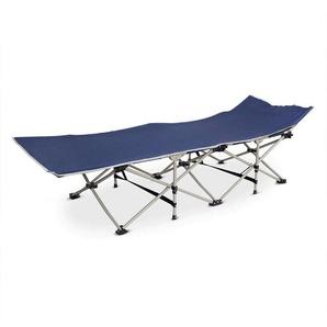Klappbett für Strand, Verstellbare Liege, 190 x 67 x 35 cm, Navy blau, Material: 600D Polyester, Stahlrohre - TODECO