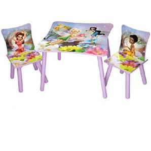 Disney Kindersitzgruppe Fairies Tisch + 2 Stühle Holz Sitzgruppe Maltisch Spieltisch Kindermöbel Möbel NEU